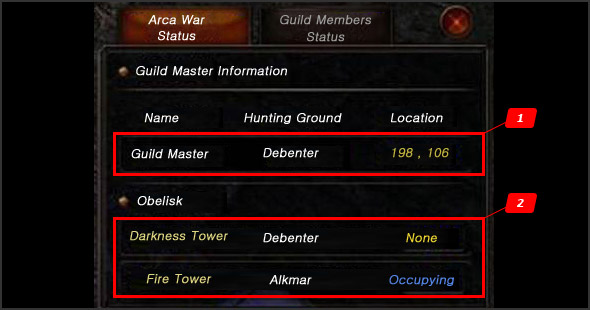 Changed UI Setting to progress Arca War