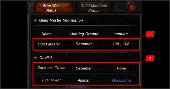Changed UI Setting to progress Arca War
